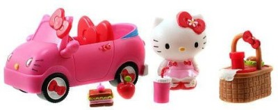 Jada Hello Kitty Sweet Rides Doll Playset Picnic Fun Car