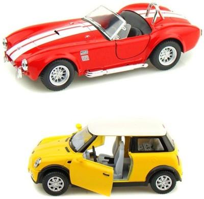 Kinsmart Mini Cooper and Shelby Cobra Red