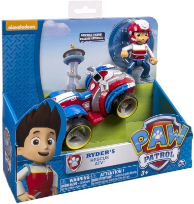 Paw Patrol Nickelodeon,Ryder's Rescue ATV, Vehicle and Figure