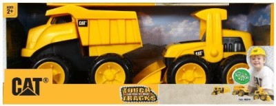 Toystate State Caterpillar Construction 8,, Tough Tracks 2Pack Dump