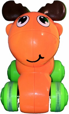 Mamaboo Push Down and Chase Animals - Orange