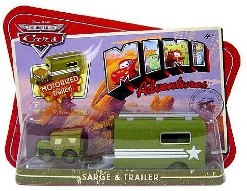 Disney CARS Mini Adventures Sarge With Motorized Trailer(Multi)