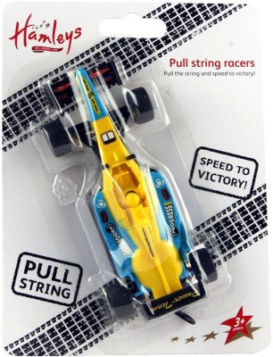 Hamleys Pullstring Racers F1 Yellow and Blue