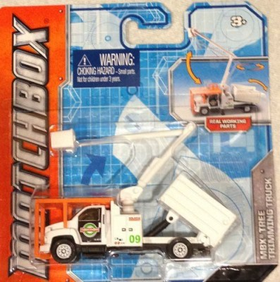 Matchbox Real Working Rigs Mbx Tree Trimming Truck(White)