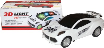 Scrazy 3D Attractive Light Rotating Car With Music