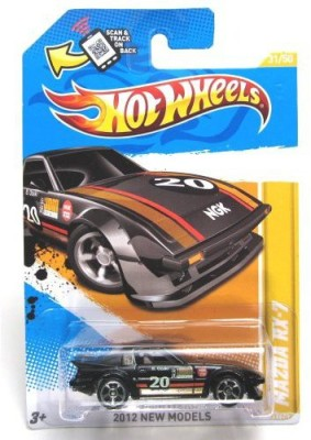 Hot Wheels 2012 New Models Mazda Rx7 Black 31/247