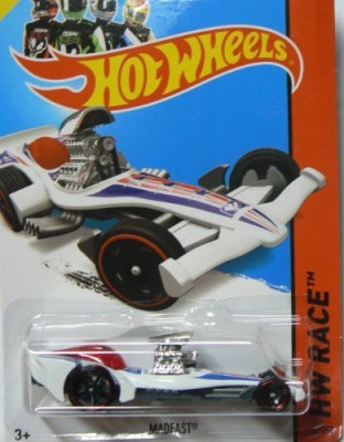 Hot Wheels 2014 Hw Race Thrill Racers White Madfast 152/250