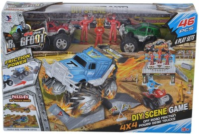 Planet of Toys DIY 4 Scenes Game - 46 Pieces