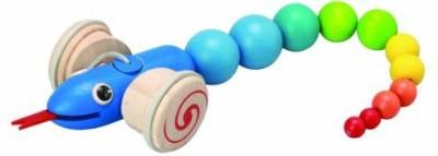 Plan Toys Pull Along Snake(Multicolor)