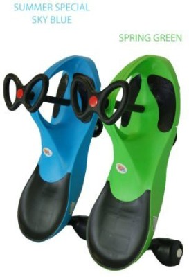 Kids Motor Store Holiday Lot, Limited Edition Sku Blue And Spring Green Rolling Coaster The Wiggling Wiggle Race Car Premium Scooter available at Flipkart for Rs.17793