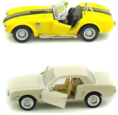 i-gadgets Kinsmart Shelby Cobra Ylw and 1964 Ford Mustang Wht