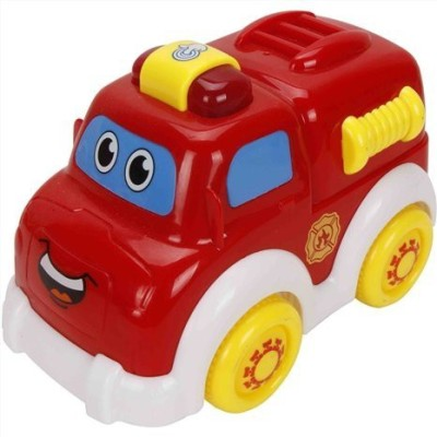 ToyZe Red Fire Engine Truck And Firemancartoon Style With Fun