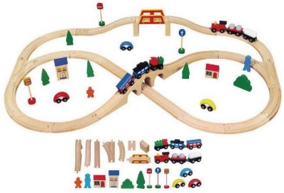 Viga Train Set - 49 pcs