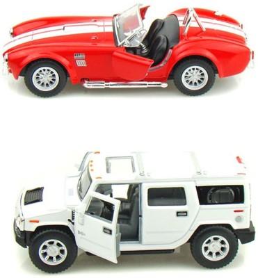 i-gadgets Kinsmart Shelby Cobra Red and Hummer H2 White