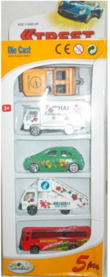 Turban Toys Die Cast Vehicle Set with 5 Different Cars