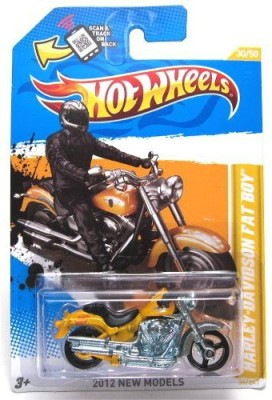 Hot Wheels 2012 New Models Edition Harleydavidson Fat Boy Diecast
