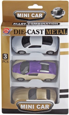 Just Toyz Die Cast Cars Gift Set of 3 Toy Cars