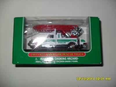 Hess 2007 Miniature Rescue Truck