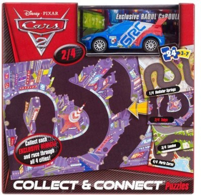 Disney Pixar Cars 2 Raoul Caroule Collect And Connect 24Pc Puzzle