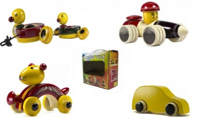 CeeJay Set of 4 Colorful Wooden Baby Toys:Model OW-OW013