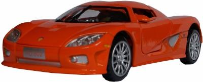 Adraxx 1:28 Scale Orange Die Cast Retro Concept Sports Car Toy Collector Model