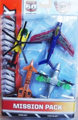 Matchbox Skybusters Mission Packairblade & Twin Blast (Bdc50)
