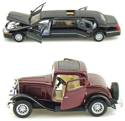 Kinsmart Lincoln Limosuine and Ford 1932 Coupe