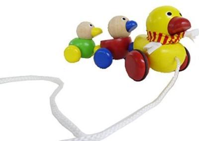 Wonderworld Duck Family Wooden Pull-Along Toy(Multicolor)