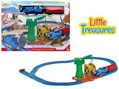 Little Treasures Dinosaur Series Electric Train Toy With Light Sound And Tracks