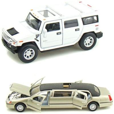 i-gadgets Kinsmart Hummer H2 and Lincoln Limosuine Gold