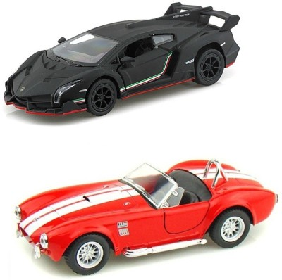 i-gadgets Kinsmart Lamborghini Veneno Blk and Shelby Cobra Rd