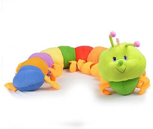 Welecom (TM) Welecom Caterpillar - Toddler Early Learning Basic Life Skills Childrens Plush Travel Activity(Multicolor)
