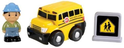 Kid Galaxy Gogo City Friction Motor School Bus With Accessories