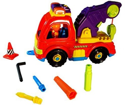 PSE Take A Part Tow Truck Set Lights & Sound (Orangepurple