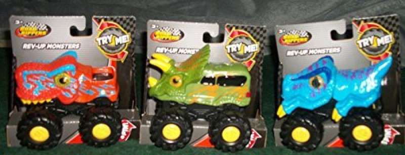 Toystate Set Of (3) Road Rippers Revup Monsters Trucks(Multicolor)