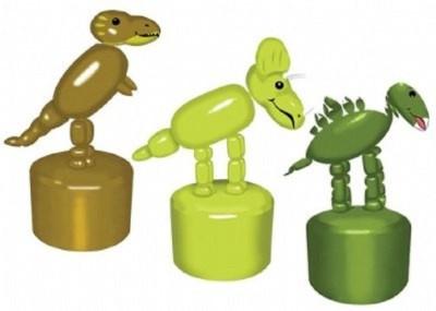 Wild Republic Wood Pushing Puppet Dino, Multi Color