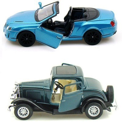 Mayatra's Kinsmart Bentley COnvertible and Ford 1932 Coupe(Multicolor)
