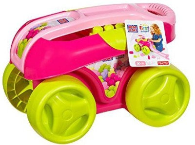 Mega Bloks First Builders Build,N Go Wagon (Pink)