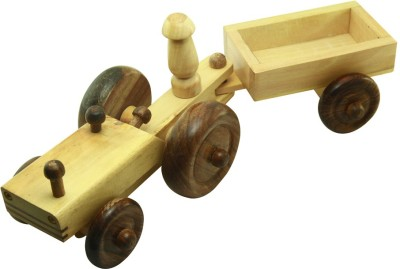 Montstar Wooden Toy Tractor Trolly