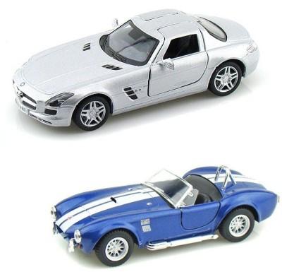 i-gadgets Kinsmart Mercedes SLS AMG Slv and Shelby Cobra Bl