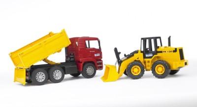 Bruder Man Tga Construction Truck and Articulated Road Loader Fr 130