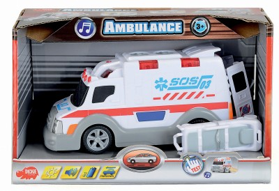 Dickie Action Series Ambulance, 15 Cm, Free Wheel, Light+Sound