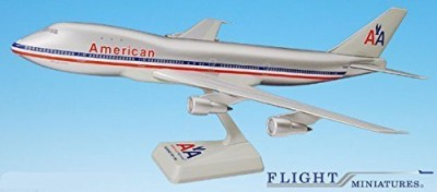 Flight Miniatures American (7013) 747100 Airplane Miniature Model Plastic