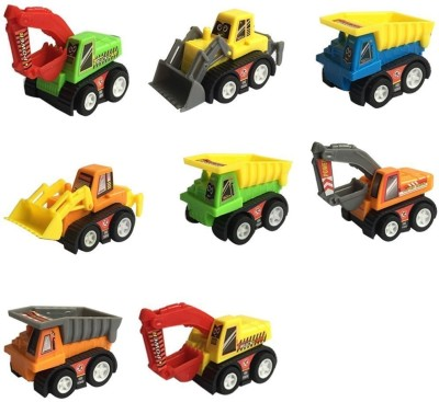 Madink Pack of 8 Pull Back Construction Cars Toys