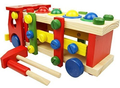 Mandydov Wooden Disassembly and Assembly Screw Truck for Kindergarten Garden Fun Early Education Toy