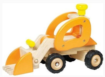 BabyCentre Goki Wooden Wheel Loader