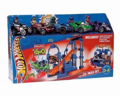 Fisher-Price Trio Hot Wheels Super Stunt Builder Mega Playset Super