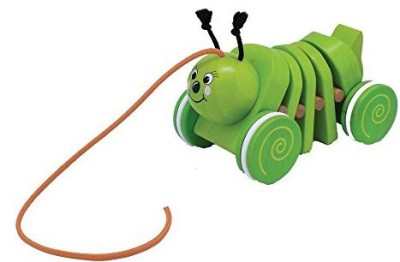 Toys & Play Wooden Pull Along Caterpillar(Multicolor)