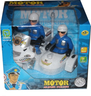 Scrazy Super Power Police Motor Bike