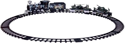 Shop & Shoppee Battery Operated Large Track Army Toy Train with Flash Light ,Sound & Real Smoke Effect